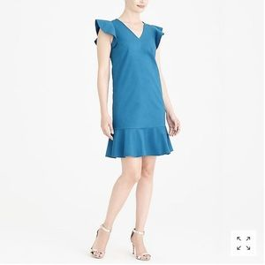 Ruffle tank dress in Sundrenched Azure